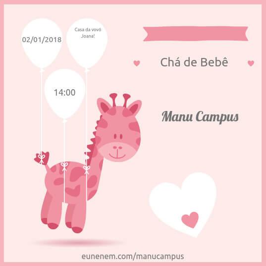 Convites De Chá De Bebê Editáveis Gratuitos Euneném